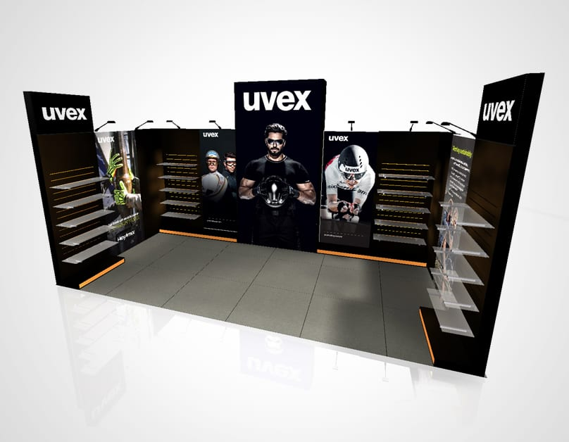 uvex Exhibition Stand 8x3<div style='clear:both;width:100%;height:0px;'></div><span class='desc'></span>
